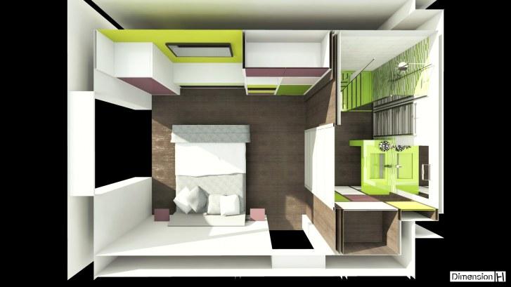 Dimension h r habilitation d un garage en chambre - Dimension salle d eau ...