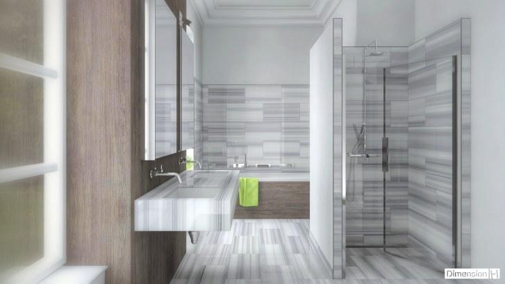 Dimension h salle de bains en marbre - Salle de bain dimension ...