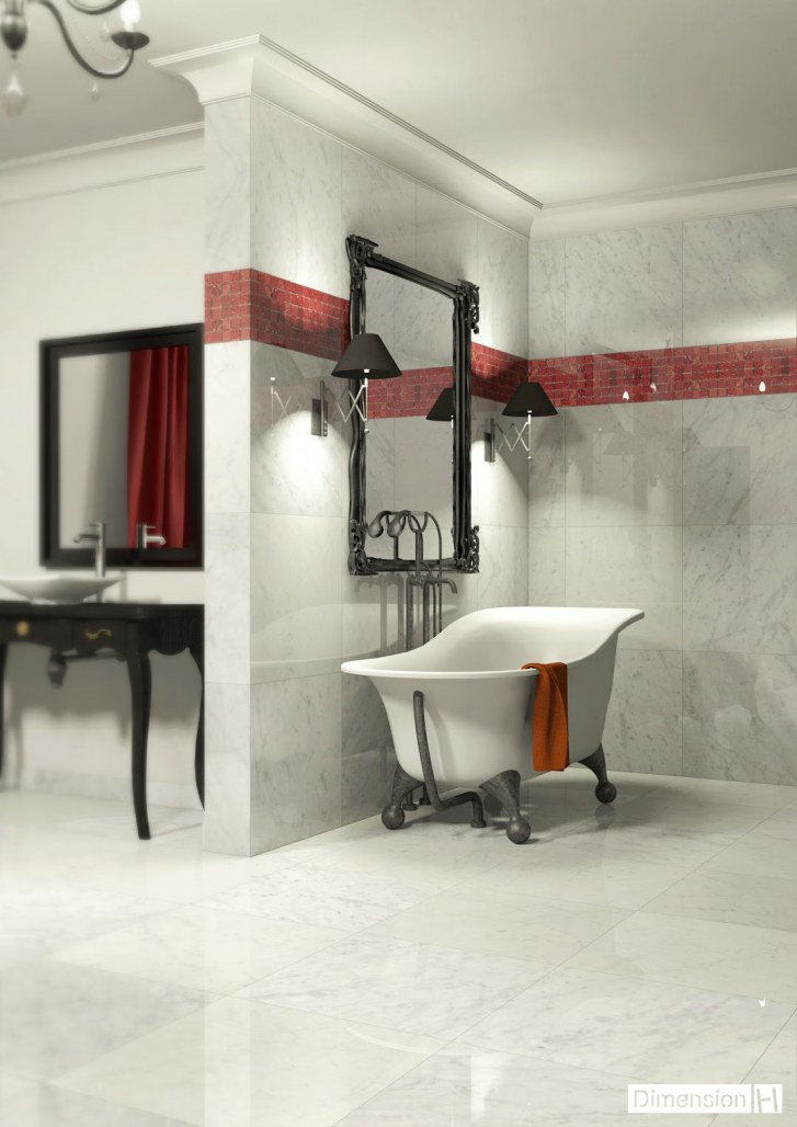 dimension h salle de bains en marbre. Black Bedroom Furniture Sets. Home Design Ideas