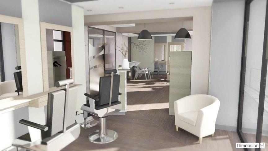 dimension h salon de coiffure. Black Bedroom Furniture Sets. Home Design Ideas