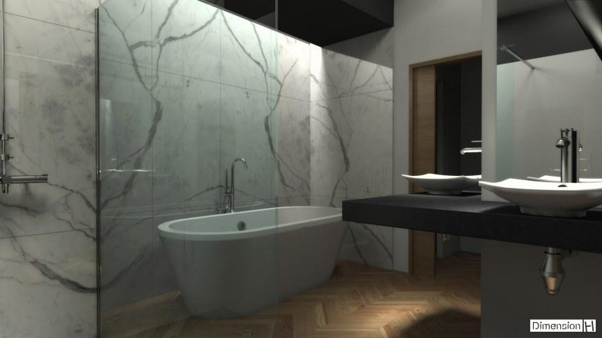 Dimension h salle de bains avec habillage mural en marbre - Soufflant salle de bain mural ...
