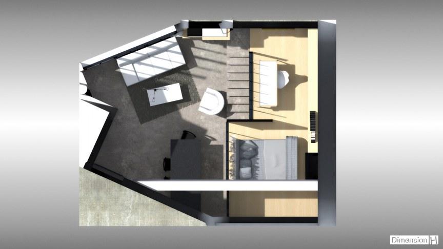 Appartement de 32 m² au sol Mezzanine