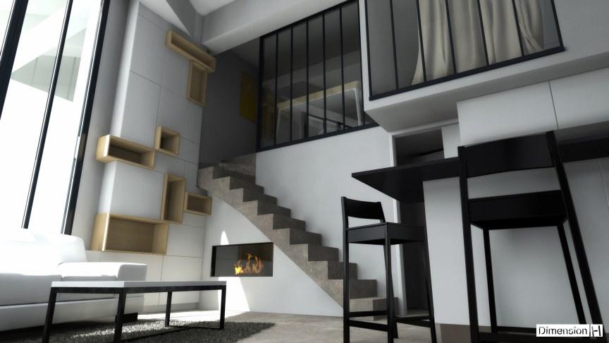 Appartement de 32 m² au sol mobilier sur mesure