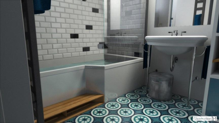 Dimension H | Salle de bains 4 m²