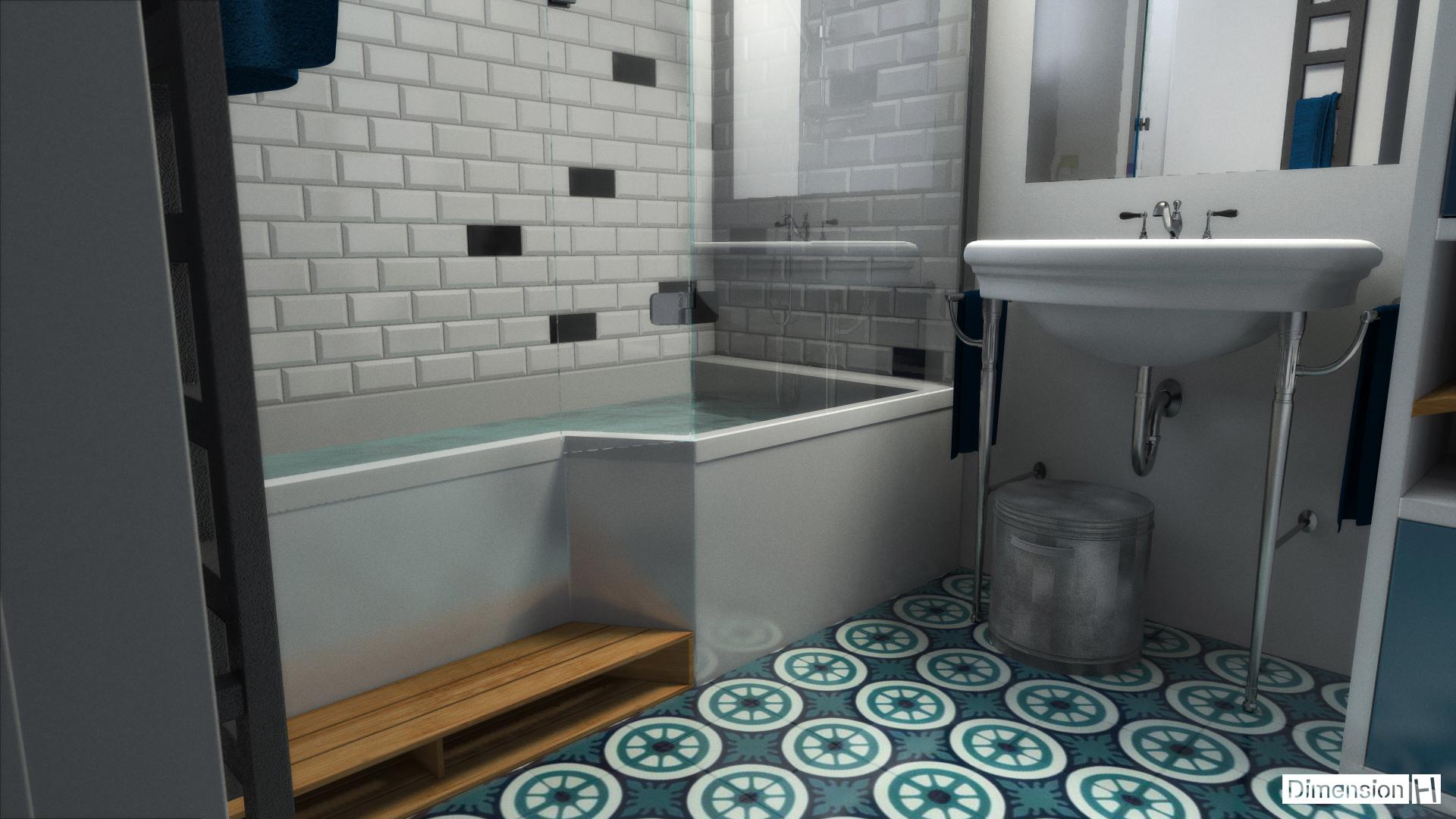 Dimension h salle de bains 4 m for Salle de bain dimension
