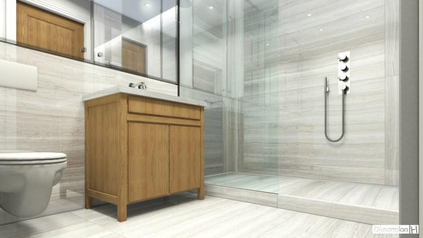 Whitewood marble bathroom Floor, walls and vanity