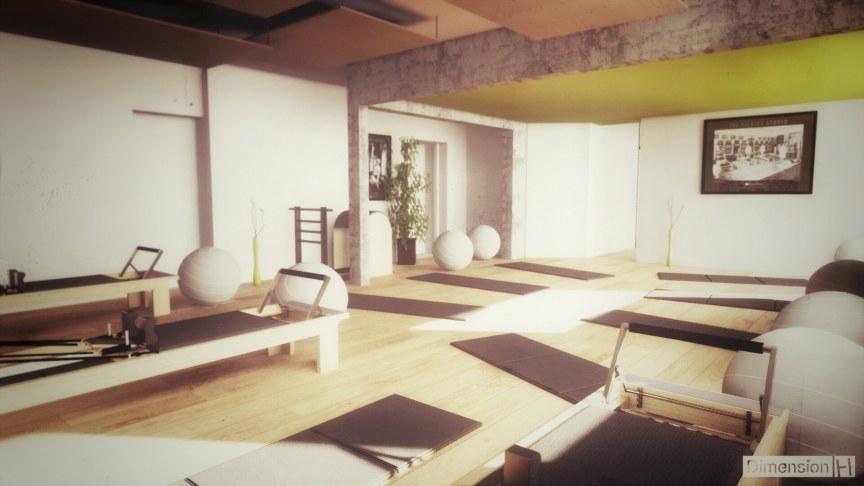 Rénovation d'un ancien garage en salle de Pilates