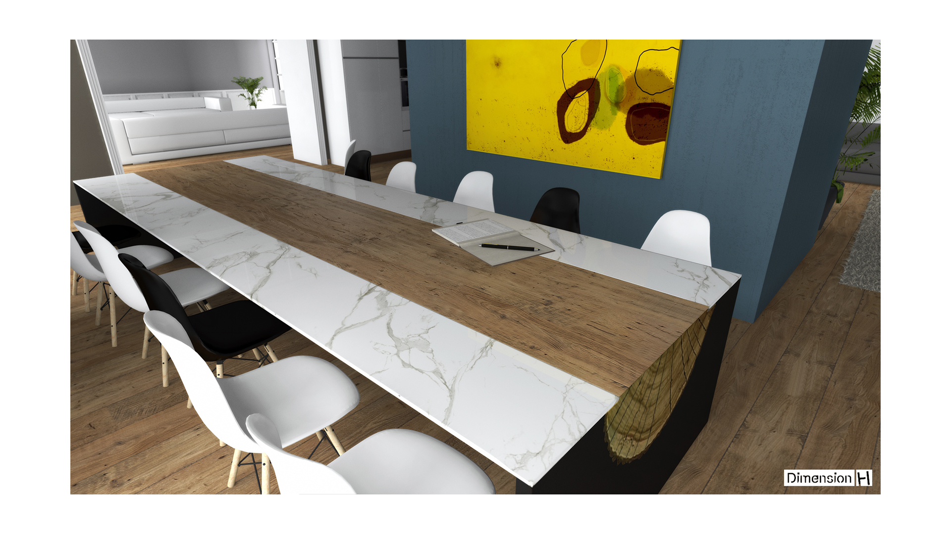 Table Dekton_metal_bois