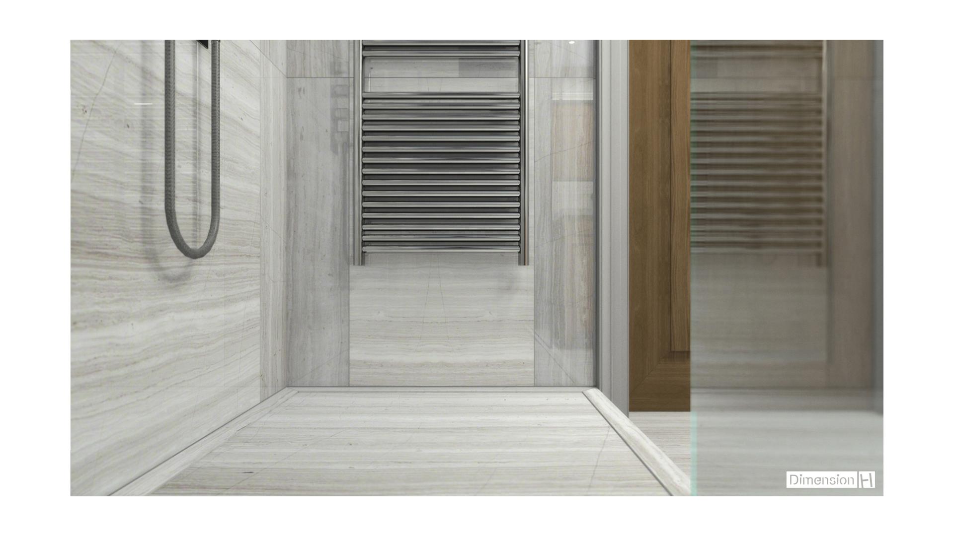 Whitewood marble bathroom