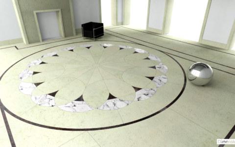 Hall d'entrée en marbre